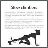 Slow Climbers Poster Text Vector Illustration