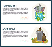 Overpopulation and Waste Disposal Websites Set