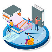 Isometric image of the people and the planning process