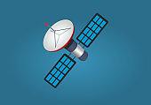 Cartoon Artificial Satellite Isolated illustration