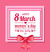 Happy Womens Day Eight March Love Spring Greeting