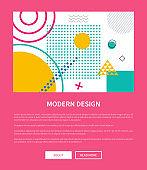 Modern Design Pink Web Page Vector Illustration