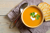Vegetarian pumpkin soup.
