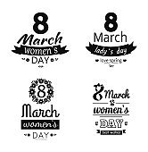 Collection template Day March Eight Greetings Design