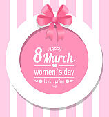 Greeting Card Happy Womens Day Eight March Spring