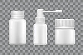 Blank Medical Containers for Capsules and Sprayer
