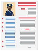 Policeman Career Information Leaflet Flat Vector