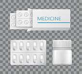 Medicine Packaging Drugs Silver Blister Painkiller