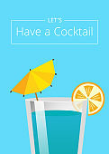 Lets Have Cocktail Summer Party Promo Poster Drink