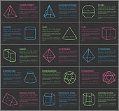 Shapes Collection and Text Vector Illustration