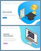Online Education, Rewards of Graduating Vector