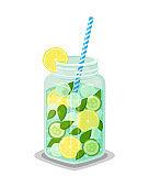 Mug of Rrefreshing Drink Contains Organic Products