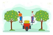 Harvesting Season People Using Lifter Machine