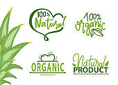 Healthy Symbol, Organic Product, Eco Logo Vector
