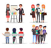 Business Meeting Abstract Vector Illustration