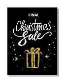 Final Christmas Sale Banner Vector Illustration