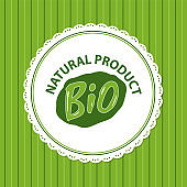 Natural Bio Product Green Label Isolated Striped