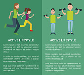 Active Lifestyle Poster Mother Daughter Father Son