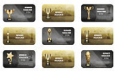 Winner Voucher Set in Golden and Silver Colors