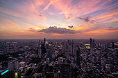 Cityscape and skyline of Bangkok City, Thailand.