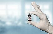Coronavirus COVID-19 medical test vaccine research and development concept.