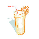Refreshing Beverage Realistic Style Logo Vector