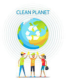 Clean Planet Motivation Poster on White Backdrop
