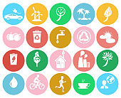 Ecological Colorful Labels Collection on White