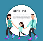Joint Sports Poster Frame for Text Circle Family