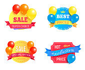 Super Choice Sale Exclusive Price Promo Labels Set