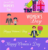 Special Offer for Happy Womens Day Illustration