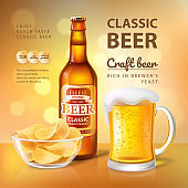 Classic Craft Beer Poster Vector Illustration