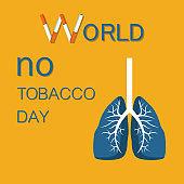 World No Tobacco Day Stop Smoking Cigarette Vector