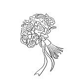 doodle bridal bouquet
