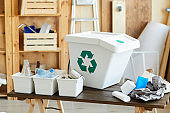 Recycling waste into the containers