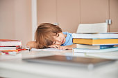 Time for a short nap while studying at home