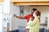Selfie portrait of family