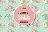 Best summer sale of sneakers banner