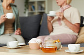 Drinking tea with friend