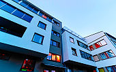 New modern apartment flat building architecture reflex