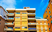 Apartment building Modern residential complex in new house in Italy reflex