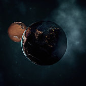 Earth with planet