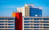 Modern apartment house buildings architecture Berlin reflex