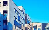 Windows of new apartment residential buildings Vilnius reflex
