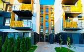 Apartment houses residential home architecture and outdoor facilities reflex