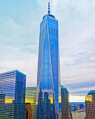 Aerial view on One World Trade Center