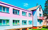 Modern country house with inner yard Druskininkai reflex