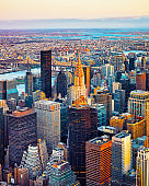 Aerial view on Midtown East NYC reflex