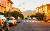 Street at road Teulada Carbonia Iglesias Sardinia