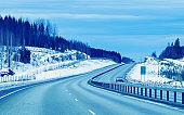 Road in winter Rovaniemi